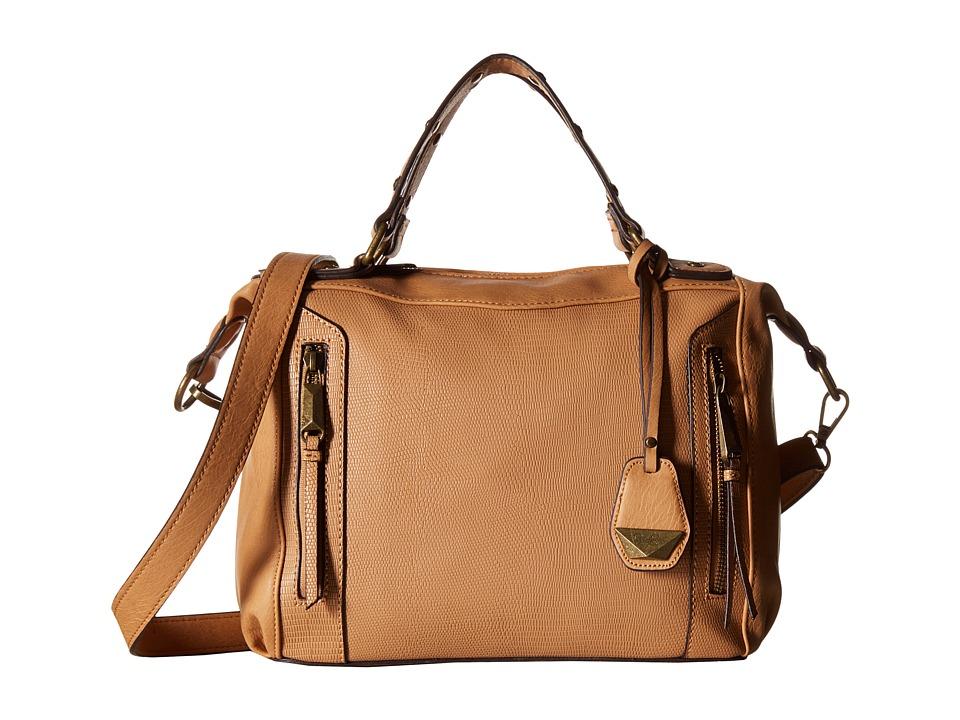 Jessica Simpson - Kyle Crossbody Satchel (Latte) Satchel Handbags