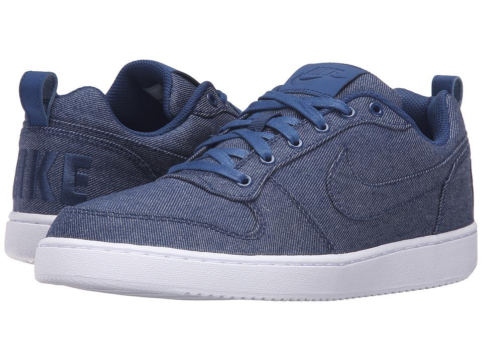 Nike - Recreation Low Prem (Coastal Blue/Coastal Blue/White) Men's Basketball Shoes