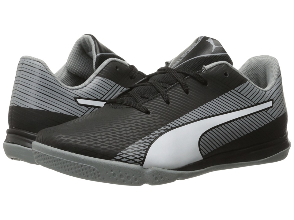 Puma Kids - evoSPEED Star S Jr (Little Kid/Big Kid) (Black/White/Quarry) Boys Shoes