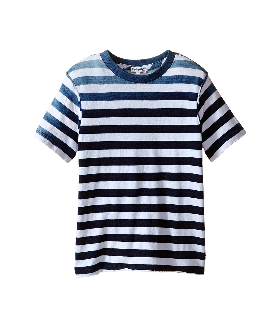 Splendid Littles - Striped Dip Dye Indigo Tee (Little Kids/Big Kids) (Stripe) Boy's T Shirt