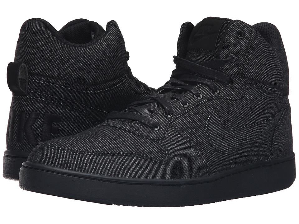 Nike - Recreation Mid Prem (Black/Black/Black) Men's Basketball Shoes