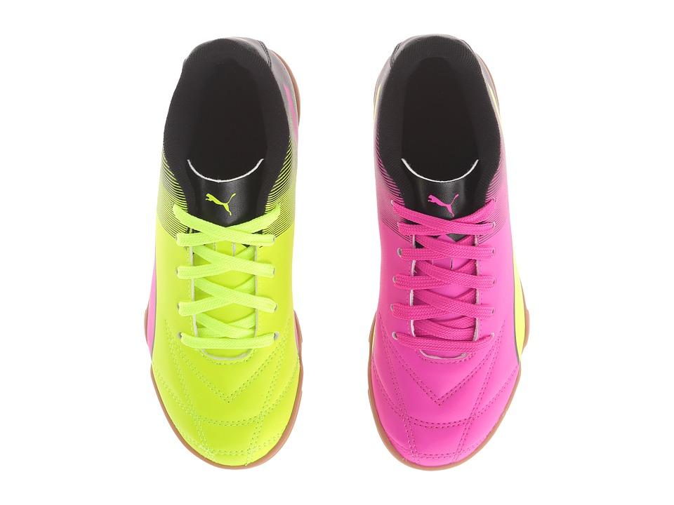 Puma Kids - Adreno II IT Jr Soccer (Little Kid/Big Kid) (Safety Yellow/Pink Glo/Puma Black) Kids Shoes