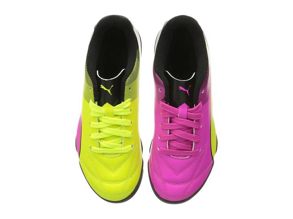 Puma Kids - Adreno II TT Jr Soccer (Little Kid/Big Kid) (Safety Yellow/Pink Glo/Puma Black) Kids Shoes
