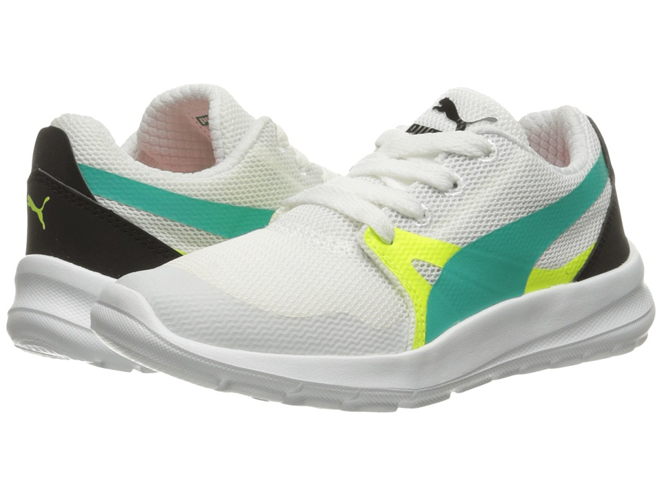 Puma Kids Duplex Evo PS (Little Kid/Big Kid) (Puma White/Spectra Green) Boys Shoes