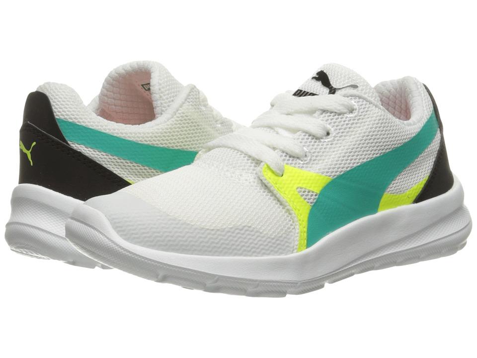 Puma Kids Duplex Evo PS (Little Kid/Big Kid) (Puma White/Spectra Green) Boys Shoes