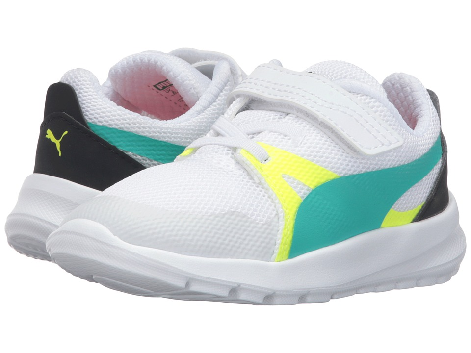 Puma Kids Duplex Evo V Inf (Toddler) (Puma White/Spectra Green) Boys Shoes