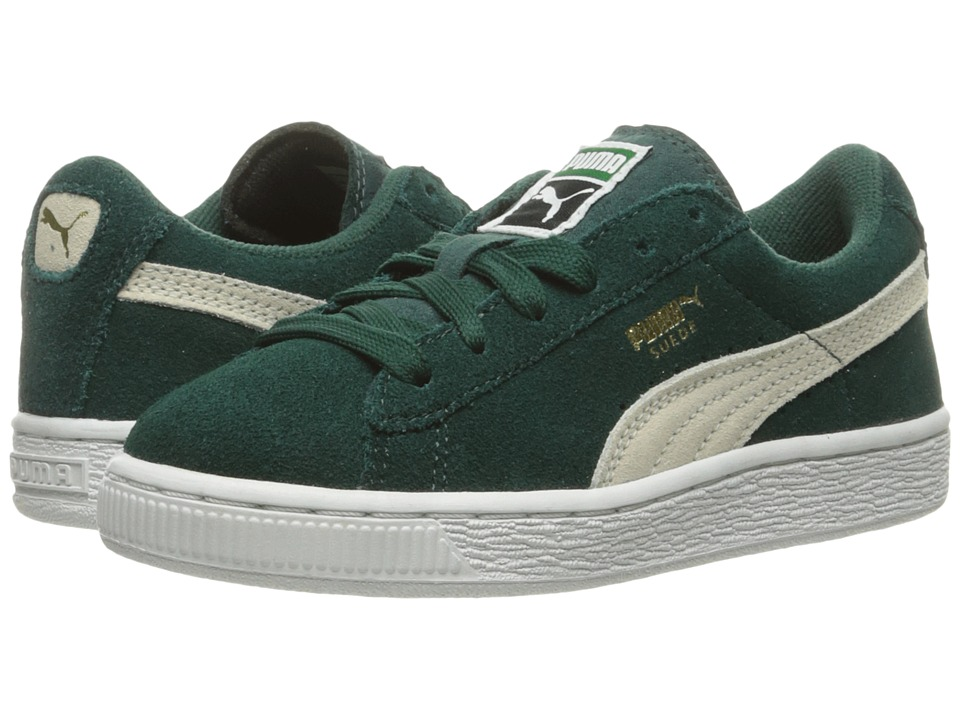 Puma Kids Suede PS (Little Kid/Big Kid) (Ponderosa Pine/Birch) Boys Shoes