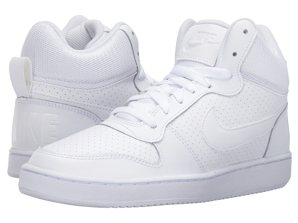 Nike - Recreation Mid (White/White/White) Women's Basketball Shoes
