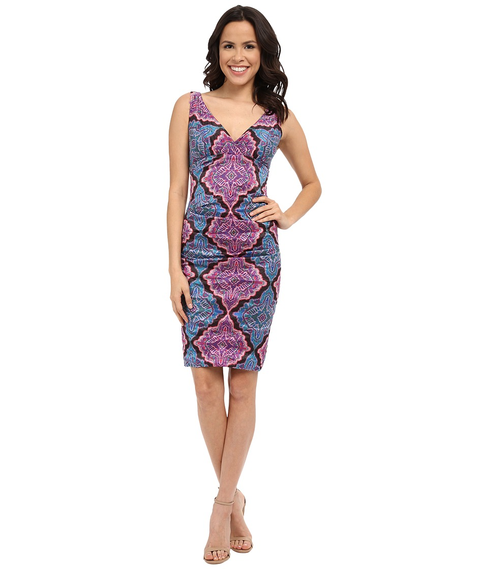 Nicole Miller Krista Madala Printed Dress (Multi) Women