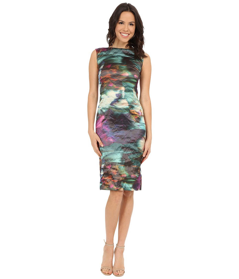 Nicole Miller - Metal Motion Blur Midi Dress (Multi) Women's Dress