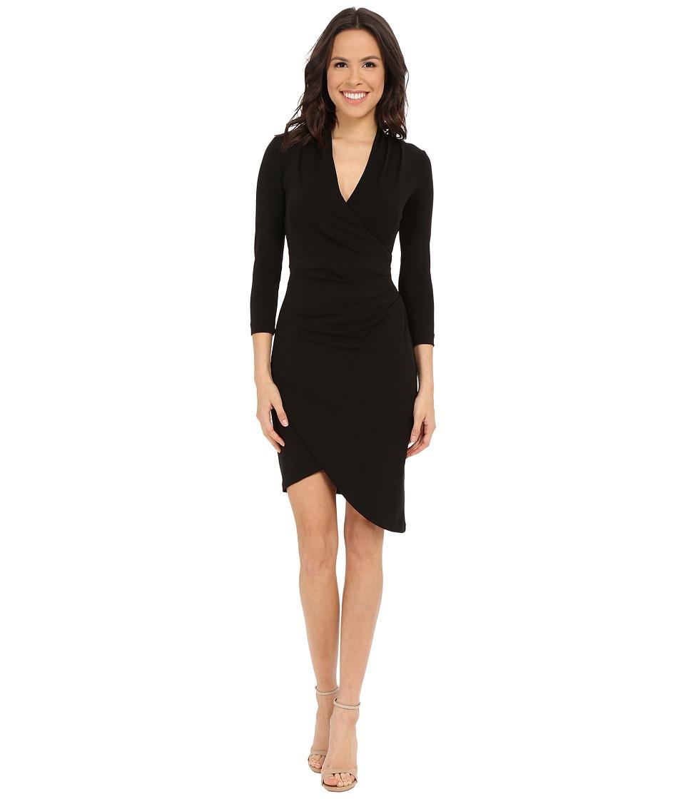 Nicole Miller - Stefanie Long Sleeve Dress (Black) Women's Dress
