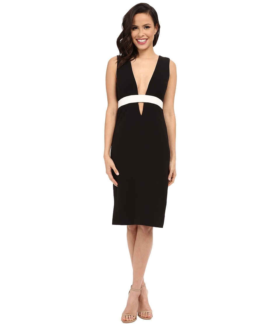 Nicole Miller - Viola Color Black Cocktail Dress (Black/White) Women's Dress