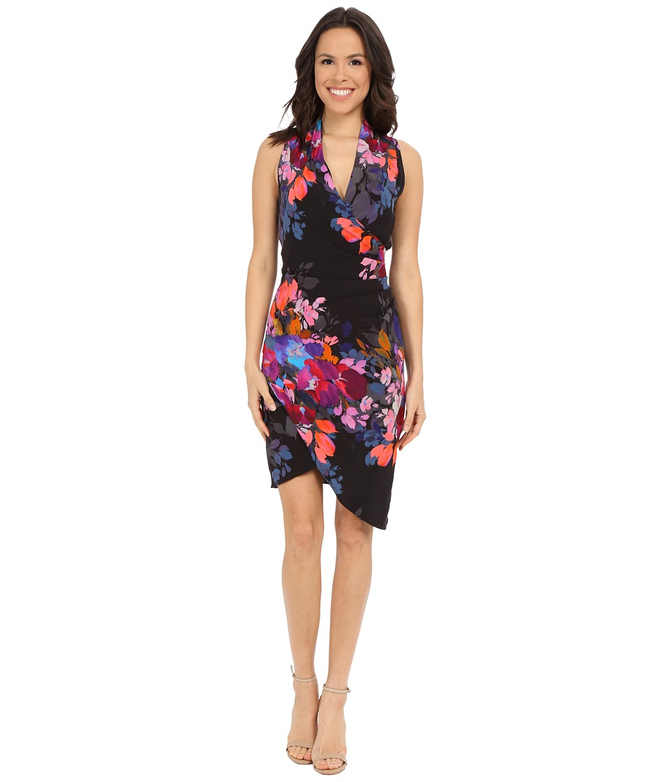 Nicole Miller - Stefanie Botanic Printed Dress (Black Multi) Women's Dress