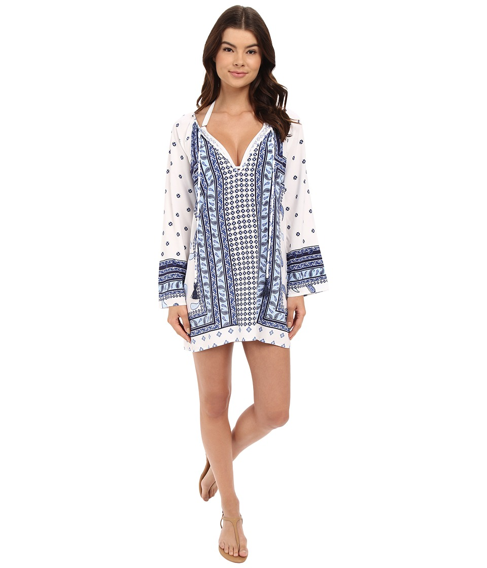 Tommy Bahama - Paisley Engineered Tunic Cover-Up (Mare Navy) Women's Swimwear