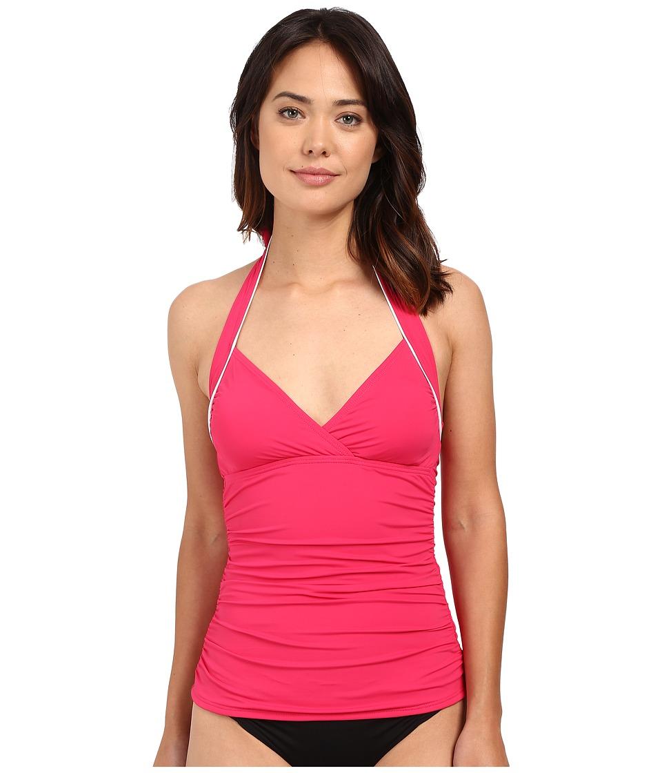 Tommy Bahama - Deck Halter Empire Seam Tankini (Azalea Pink) Women's Swimwear
