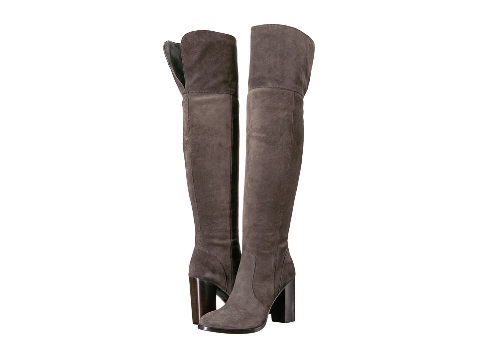 Frye - Claude Over-The-Knee (Smoke Oiled Suede) Women's Boots