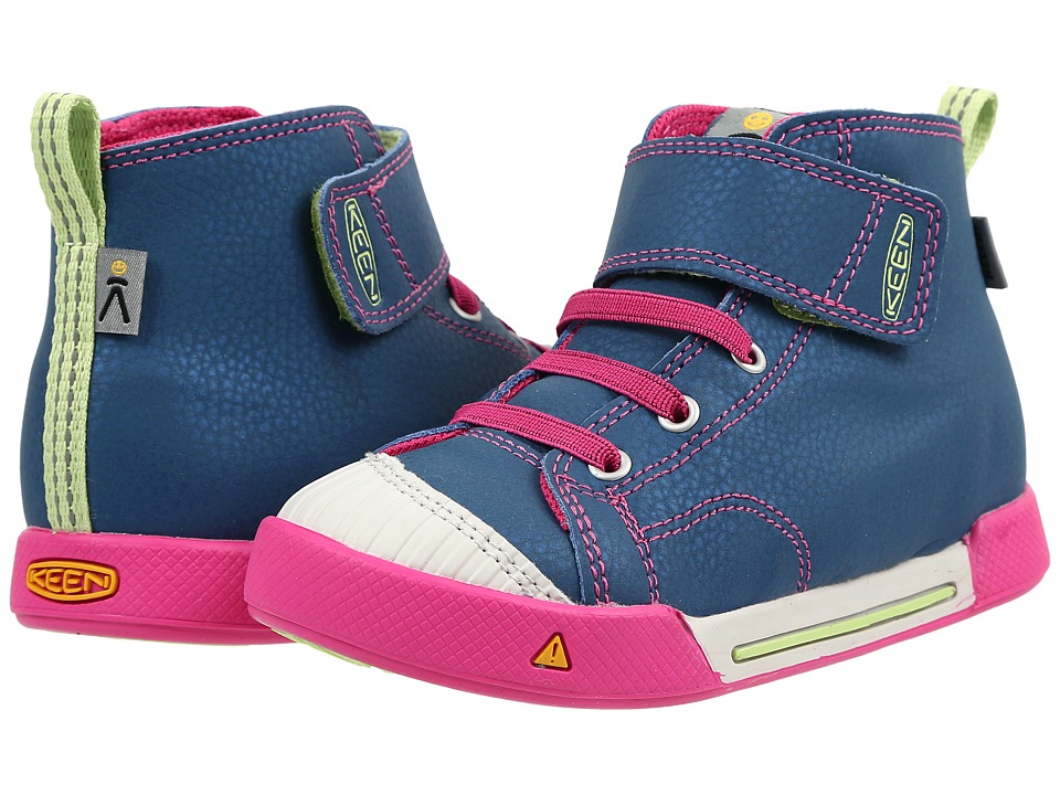 Keen Kids - Encanto Scout High Top (Toddler/Little Kid) (Poseidon/Very Berry) Girls Shoes