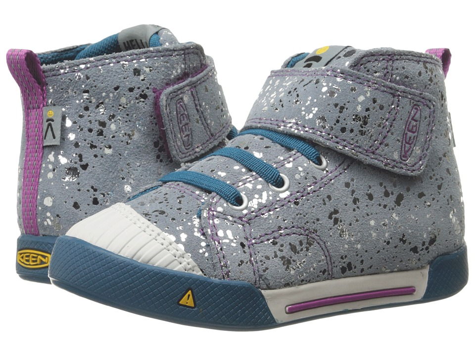 Keen Kids - Encanto Scout High Top (Toddler/Little Kid) (Silver Splatter/Purple Wine) Girls Shoes