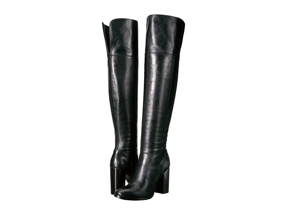 Frye - Claude Over-The-Knee (Black Smooth Vintage Leather) Women's Boots