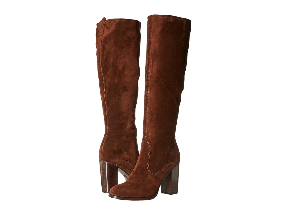 Frye - Claude Tall (Brown Oiled Suede) Women's Boots