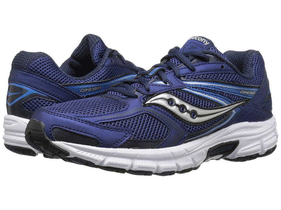 Saucony - Cohesion 9 (Navy/Grey) Men's Running Shoes