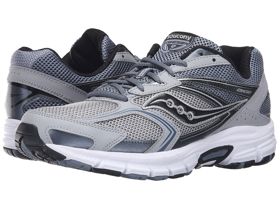 Saucony - Cohesion 9 (Grey/Silver/Black) Men's Running Shoes