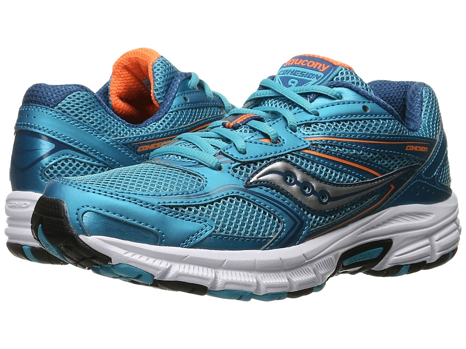 Saucony - Cohesion 9 (Teal/Orange) Women's Running Shoes
