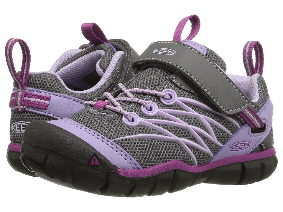 Keen Kids - Chandler CNX AC (Toddler/Little Kid) (Pastel Lilac/Purple Wine) Girls Shoes