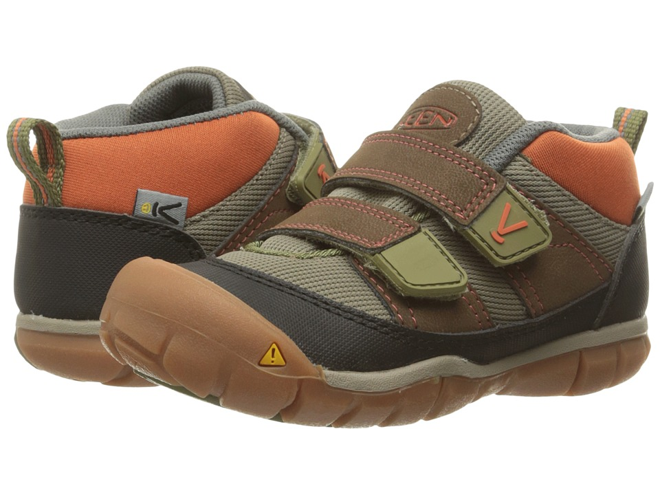 Keen Kids - Peek-A-Shoe (Toddler) (Dark Earth/Burnt Orange) Boys Shoes