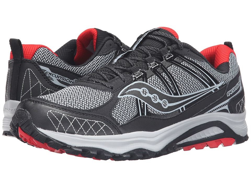 Saucony - Excursion TR10 (Grey/Black/Red) Men's Running Shoes