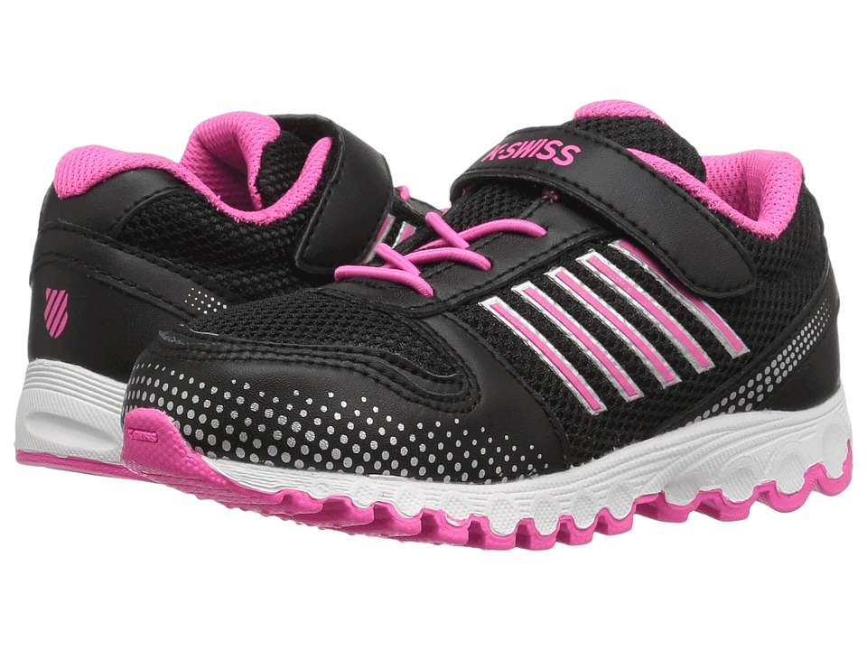 K-Swiss Kids - X-160 VLC (Infant/Toddler) (Black/Black/Neon Pink) Kids Shoes