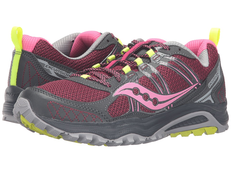 Saucony - Excursion TR10 (Pink/Black/Citron) Women's Running Shoes