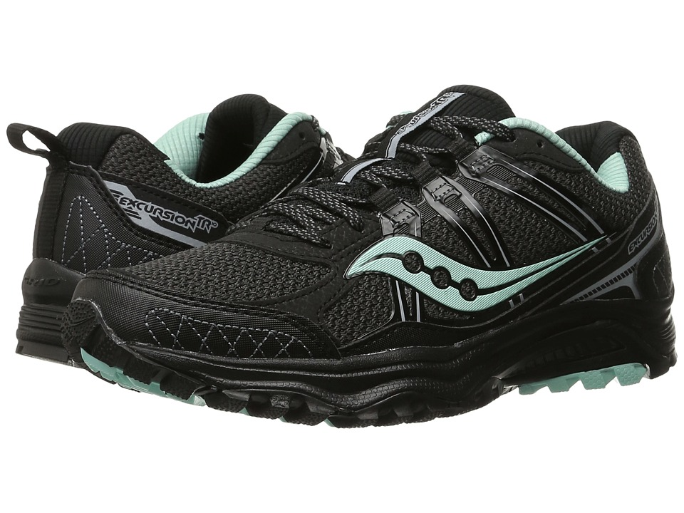 Saucony - Excursion TR10 (Black/Mint) Women's Running Shoes