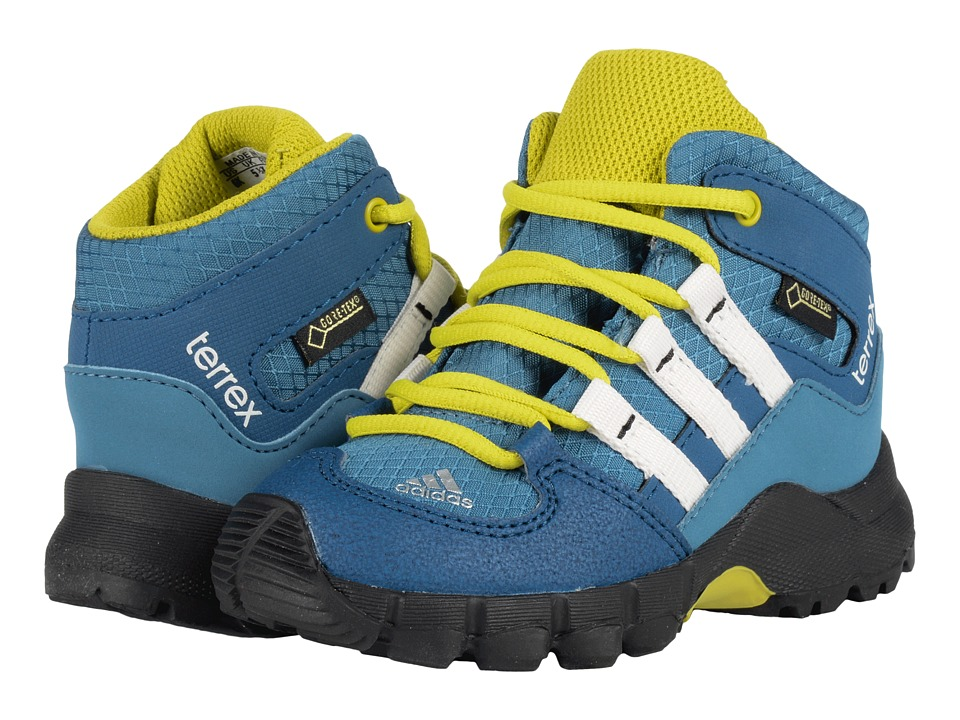 adidas Outdoor Kids - Terrex Mid GTX (Toddler) (Blanch Blue/Chalk White/Tech Steel) Boys Shoes