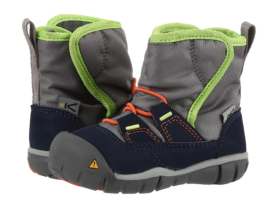 Keen Kids Peek-A-Boot (Toddler) (Dress Blues/Macaw) Boys Shoes