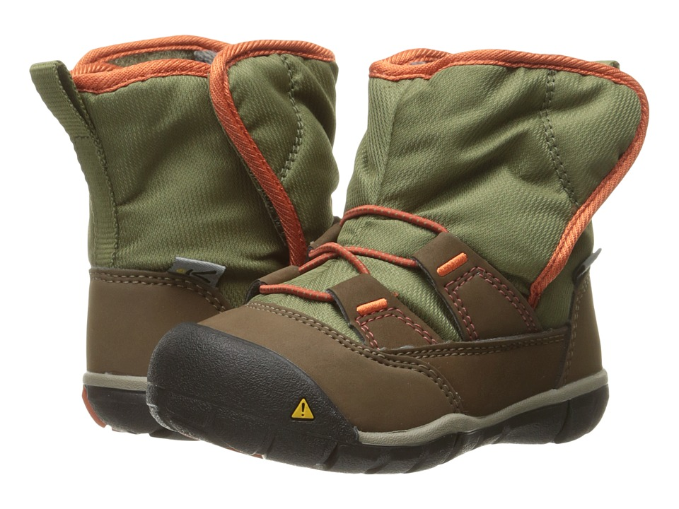Keen Kids - Peek-A-Boot (Toddler) (Dark Earth/Burnt Orange) Boys Shoes