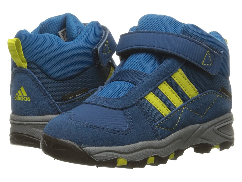 adidas Outdoor Kids - Powderplay Mid CF CP Leather (Toddler) (Shock Blue/Shock Blue/Dark Grey) Boys Shoes