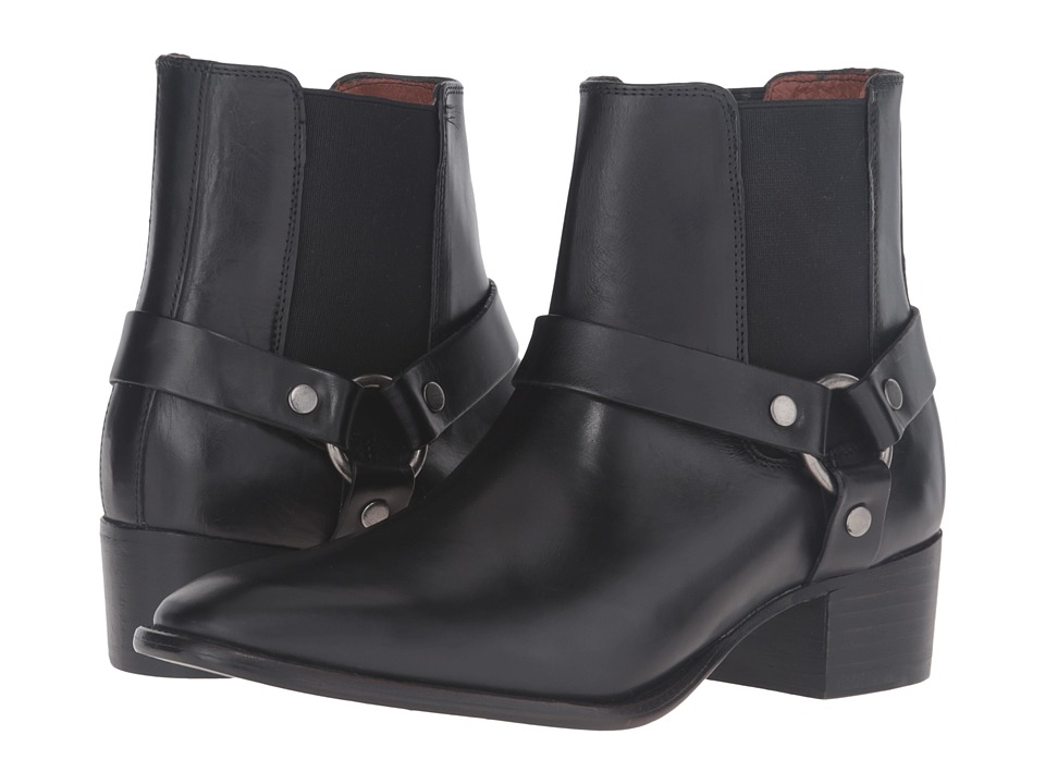Frye Dara Harness Chelsea (Black Smooth Veg Calf) Women