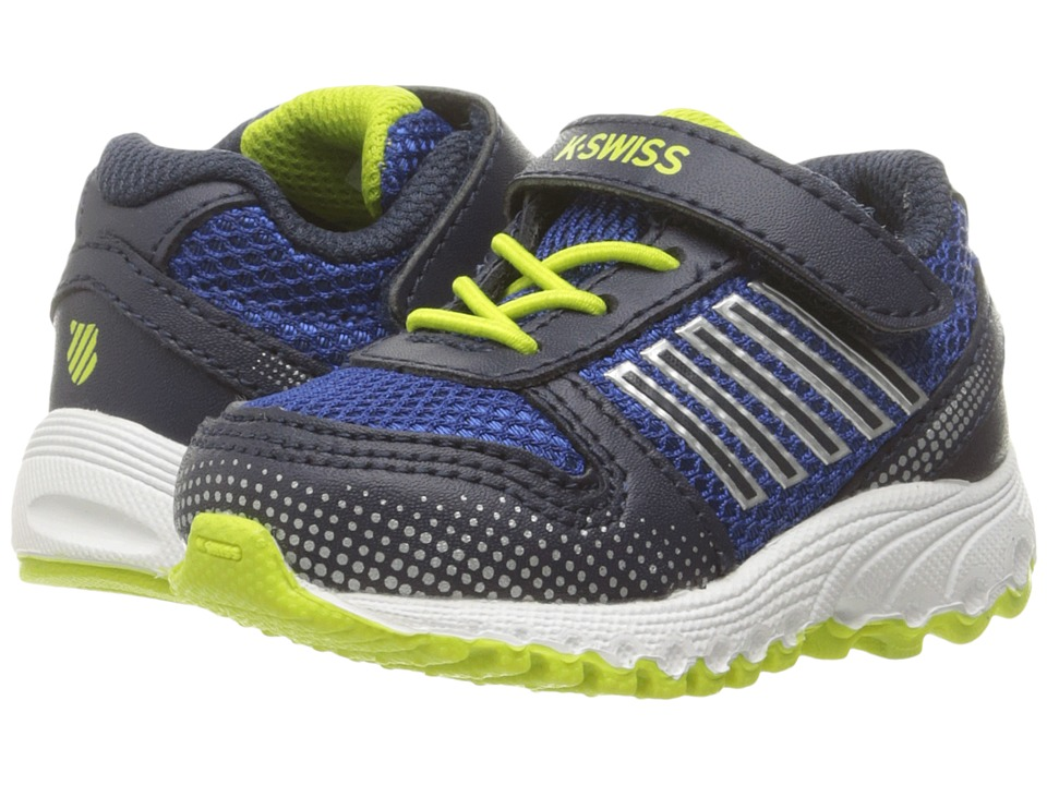 K-Swiss Kids - X-160 VLC (Infant/Toddler) (Classic Blue/Navy/Lime Green) Boy's Shoes