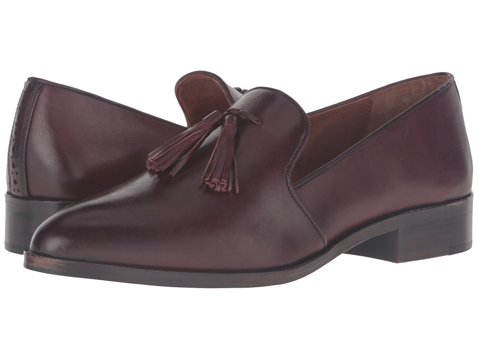 Frye Erica Venetian (Bordeaux Smooth Veg Calf) Women