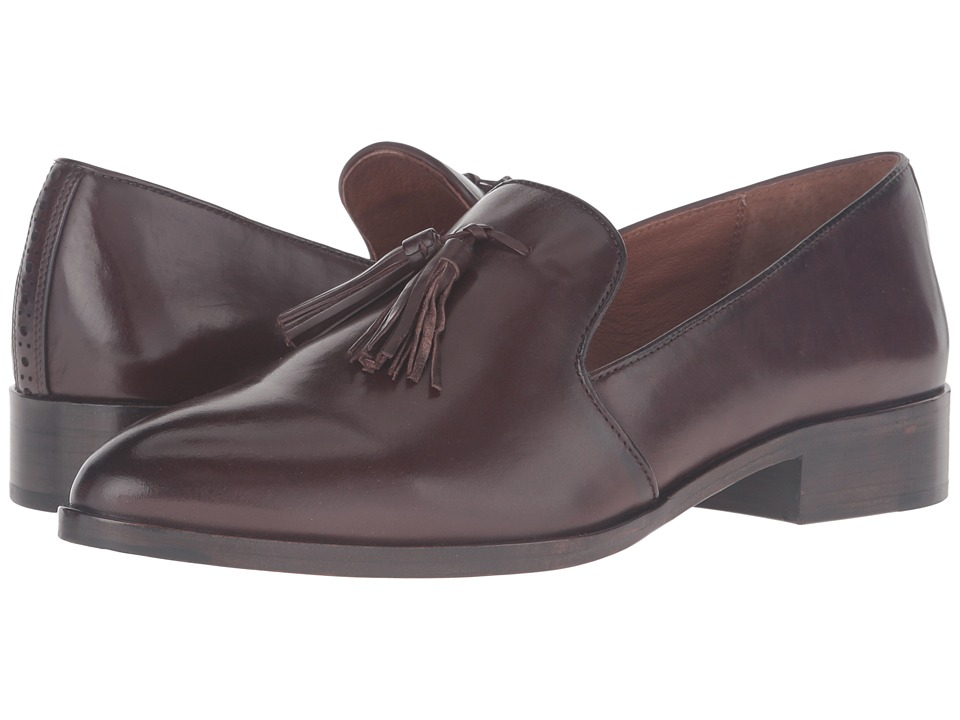 Frye Erica Venetian (Dark Brown Smooth Veg Calf) Women
