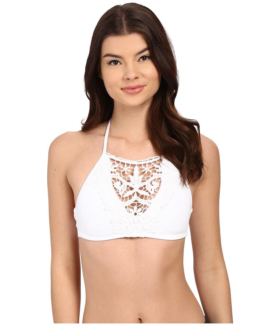 BECCA by Rebecca Virtue - Venise High Neck Top (White) Women's Swimwear