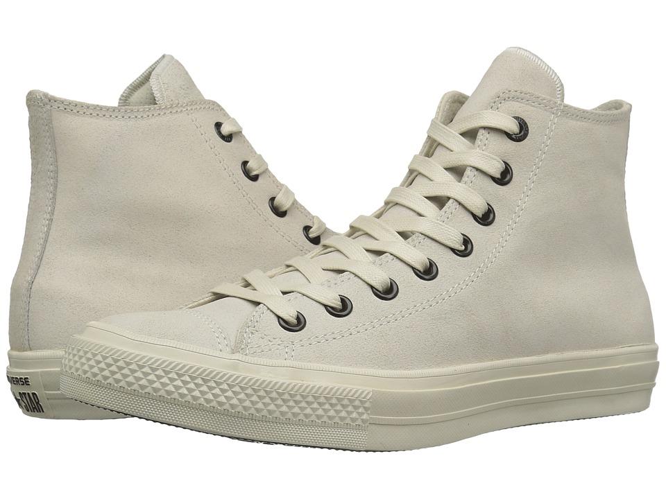 Converse by John Varvatos - Chuck Taylor All Star II Coated Leather Hi (Turtledove/Turtledove/Turtledove) Lace up casual Shoes