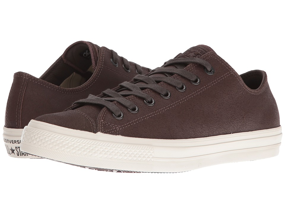 Converse by John Varvatos - Chuck Taylor All Star II Coated Leather Ox (Brown/Turtledove) Lace up casual Shoes