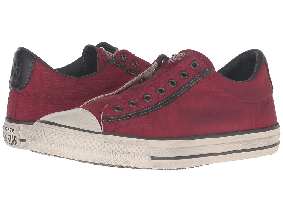 Converse by John Varvatos Chuck Taylor All Star Vintage Slip Painted Nylon Ox (Oxblood/Beluga/Turtledove) Lace up casual Shoes