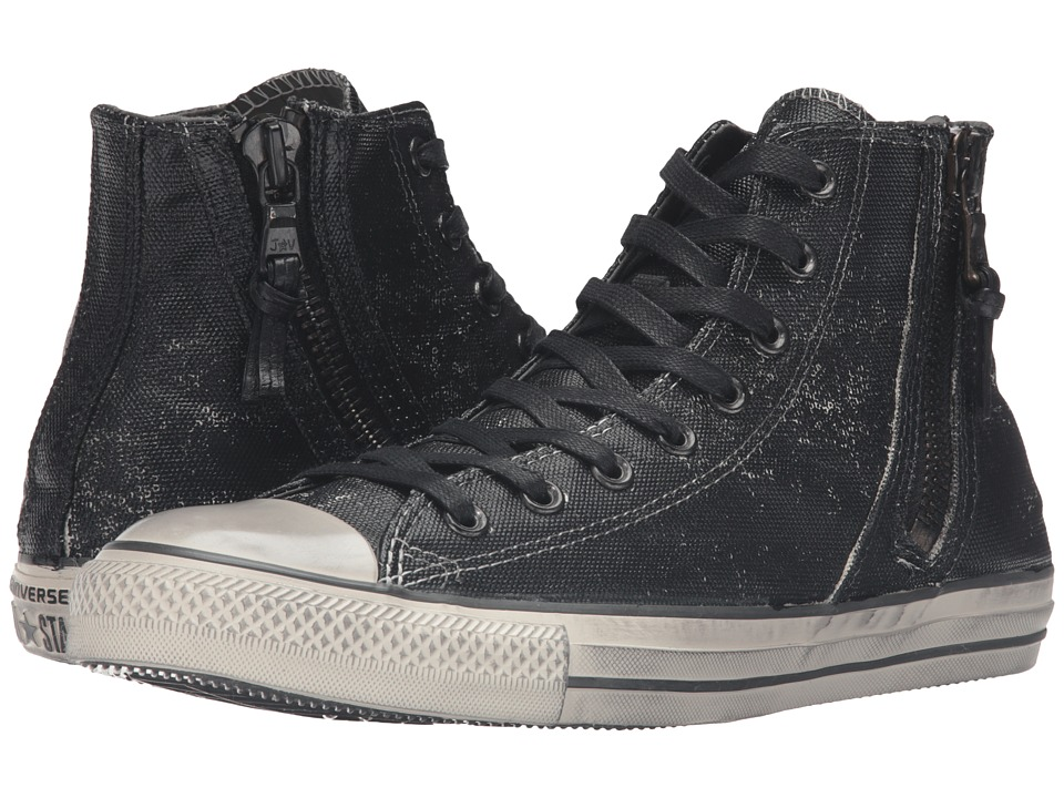 Converse by John Varvatos - Chuck Taylor All Star Side Zip Heavyweight Canvas Hi (Black) Lace up casual Shoes