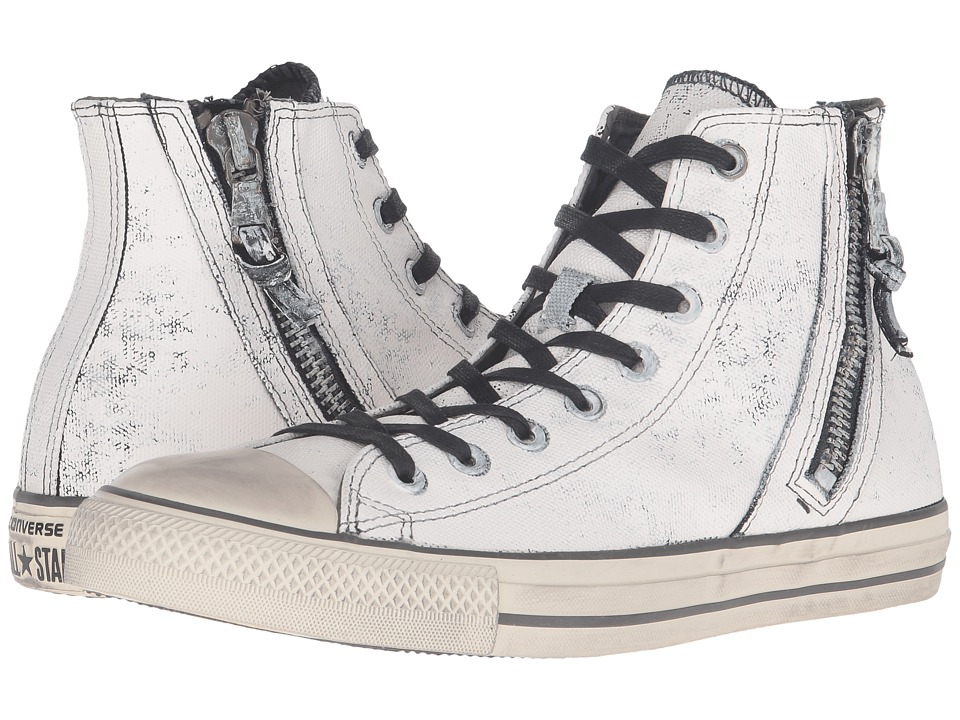 Converse by John Varvatos Chuck Taylor All Star Side Zip Heavyweight Canvas Hi (Cream) Lace up casual Shoes