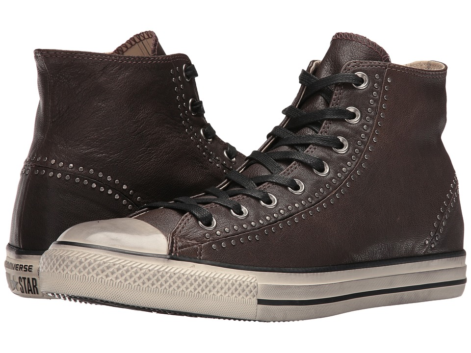 Converse by John Varvatos - Chuck Taylor All Star Split Seam White Painted Seams Hi (Dark Chocolate/Turtledove/Beluga) Lace up casual Shoes