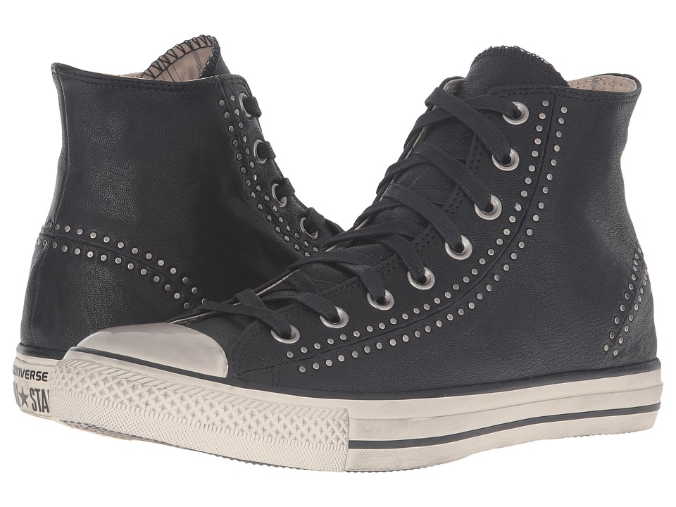 Converse by John Varvatos - Chuck Taylor All Star Split Seam White Painted Seams Hi (Black/Turtledove/Beluga) Lace up casual Shoes