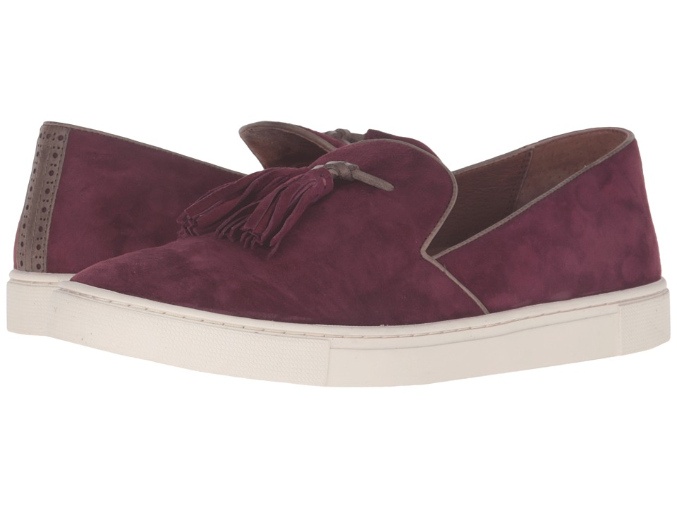 Frye Gemma Tassel Slip (Bordeaux Suede/Soft Full Grain Leather) Women